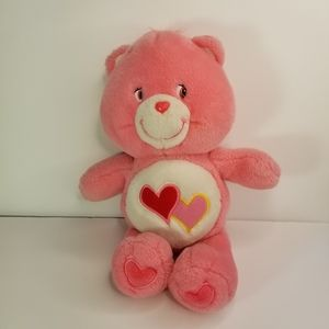 VINTAGE CARE BEARS LOVE A LOT PINK PLUSH 2002